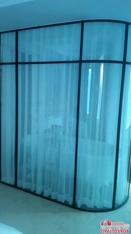 Vách kính cong nhà tắm 10mm
